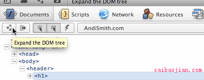 The Expand DOM button in Dragonfly