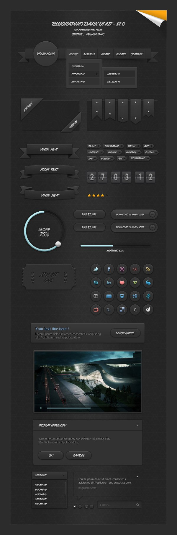 02_bluegraphic_dark_ui_kit