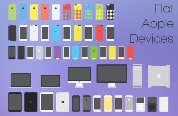 Apple Flat Devices Pack Free PSD