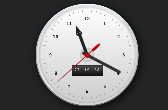 html5-css3-clock-with-date