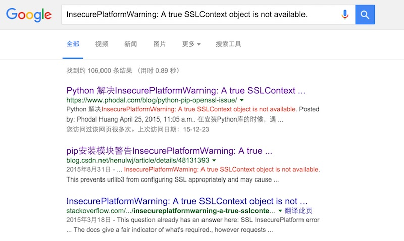 google-search-python-issue